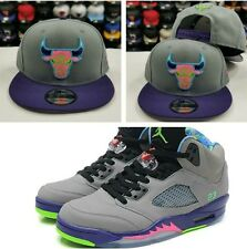 Matching New Era Chicago Bulls 9Fifty snapback Hat for Jordan 5 Bel Air