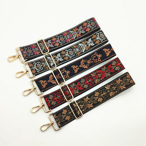 Women Shoulder Strap Ethnic Style Bag Belt Replacement Band Handbag Accessories