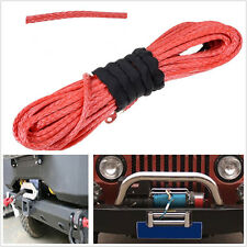 Car SUV Offroad Truck ATV Synthetic Fiber Tow Recovery Winch Rope Protection Kit
