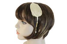 New Women Headband Gold Metal Wide Leaf Fashion Hair Accessory Casual Look Teens