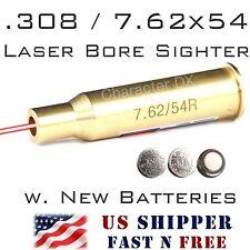 .308 .243 7.62x54R Laser Bore Sight Brass Cartridge In-Chamber Boresighter -RL04