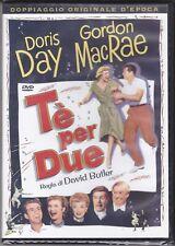 Dvd video TÈ PER DUE con Doris Day Gordon MacRae nuovo sigillato 1950