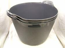 Bucket jardin Pack de 2 42L bleu Flexi baignoire Trug cheval stockage