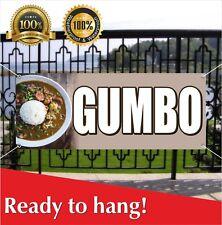 Gumbo Banner Vinyl / Mesh Banner Sign Flag Many Size Carnival Fair Food