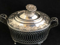Sucrier de Style Louis XVI Argent Massif Antique French Silverware Sugar Bowl