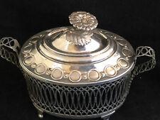 Sucrier de Style Louis XVI Argent Massif Antique French Silverware Sugar Bowl