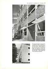 1958 Wall Details, Southlands College, Wimbledon  : Yorke, Rosenberg & Mardall