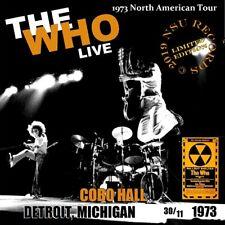 THE WHO LIVE COBO HALL IN DETROIT 1973  NOV 30th LTD  2 CD