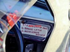 PHOTO  DASHBOARD OF A FORD 105E ANGLIA IN THE HISTORIC SALOONS RACE HSCC SILVERS