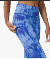 """NWT Lululemon Fast Free Tight II Size 4 Game Day Blue Multi Reflective Nulux 25"""""""