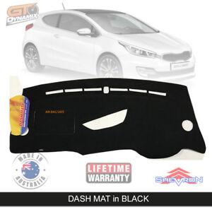 DASH MAT for KIA Pro-cee'd JD GT GT-Tech 1/2014-2016 Pro-Ceed in Black DM1359