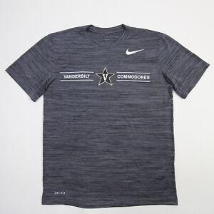 Vanderbilt Commodores Nike Dri-Fit Short Sleeve Shirt Men's Dark Gray Used