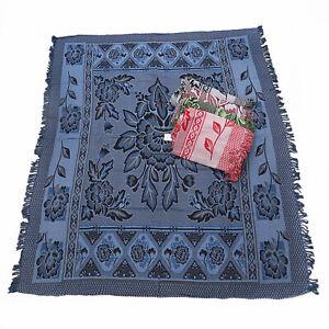 1pce Blue Boho Throw Rug / Table Cloth / Picnic / Camping Blanket 180x200cm