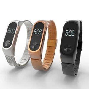 Fitness Tracker Edelstahl Ersatz Band Replacement Armband für Xiaomi Mi Band 2