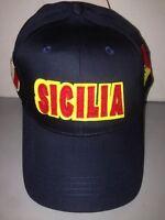CAPPELLO SICILIA BLU VISIERA CAPPELLINO HAT