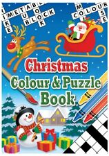 12 Christmas Colour & Puzzle Books - Stocking Toy Loot/Party Bag Filler Children