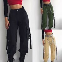 Women Girls Christmas Bell Stripe Tighten High Waist Pencil Pants Party Trousers