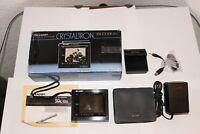 Sharp Crystaltron Portable T.v. / Video Monitor 3ML100{BK}