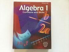 Algebra 1: California : Concepts and Skills by Boswell,  Kanold Hardcover