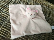 Mini Club Boots cat kitten pink baby comforter doudou blankie puppet stripe head
