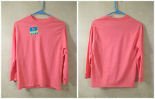 NWOT Girls FRUIT OF THE LOOM Size L 10-12 Solid Pink Long Sleeve Tee Shirt