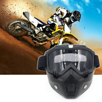 Motorbike Riding Helmet Face Masque Lunettes ATV Bike MTB Glasses Eyewear BK