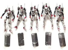 KAIYODO REVOLTECH MINIATURE EVA04 LOT OF 5 ARMY EVANGELION AS IS SHIP WORLDWIDE!