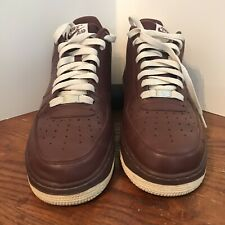 Nike Air Force 1 Leather Deep Maroon Athletic Sneakers 315122-603 Men's Size 12