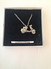 Scooter - V PP-T18  Emblem on Silver Platinum Plated Necklace 18""