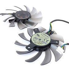 75mm 12V 0.25A 4pin T128010SH Fan For Video Card R6850 6850 HD6850