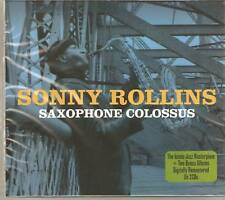 SONNY ROLLINS SAXOPHONE COLOSSUS JAZZ MASTERPIECE 2CD'S