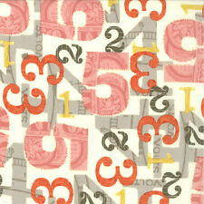 Julie Comstock Cosmo Cricket 2wenty Thr3e Numbers Fabric in Parchment 37052-11
