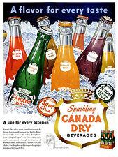"Vintage Canada Dry Ad Replica 11 x 14""  Photo Print"