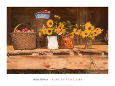 August Still Life by Phillip Philbeck Art Print Floral Poster 18x24 - LAST ONES