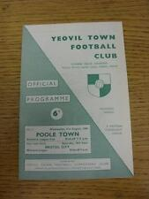 31/08/1966 Yeovil Town v Poole Town [Southern League Cup] . Item in very good co