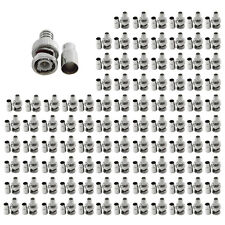 100 Pcs CCTV Security Camera BNC Crimp Connector Male Type - Rg59