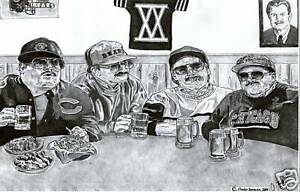 Chicago Bears DA BEARS Super Fans SNL Chris Farley poster ART