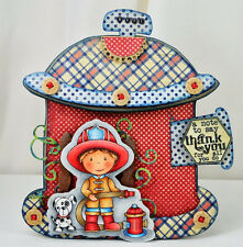 Firefighter Owen L@@K@photo example Paper Nest Dolls Rubber Stamps