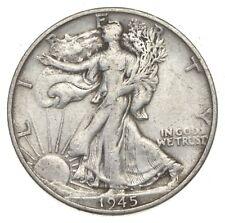 XF+ 1945-S Walking Liberty 90% Silver US Half Dollar - NICE COIN *913