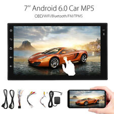 7'' Android 6.0 Car Stereo MP5 Player 2Din Bluetooth GPS Navigation WIFI +Camera