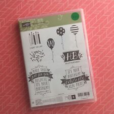 Stampin' Up!® Retired Balloon Bash Photopolymer Set Of 8
