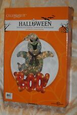 CELEBRATE IT HALLOWEEN GHOST BOO LIGHTED SIGN YARD OUTDOOR DECORATION