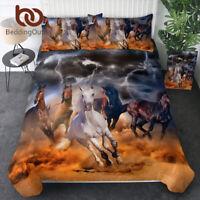 Girls Horse Bedding Set Duvet Cover Set for Queen Size Comforter Set Pillow Case