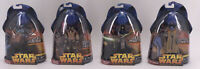 Star Wars REVENGE OF THE SITH ROTS 4 Hasbro Action Figures Lot Jedi Wookie 2005