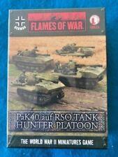 Flames of War Gbx26 Pak40 auf Rso Tank Hunter Platoon (new in shrinkwrap)