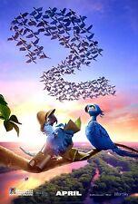 Rio 2 Original D/S Rolled Movie Poster 27x40 NEW 2014 anne Hathaway   Bruno Mars