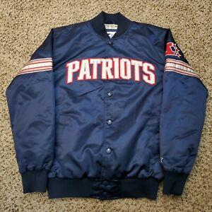 New England Patriots Starter Satin Jacket NFL Football Size Medium