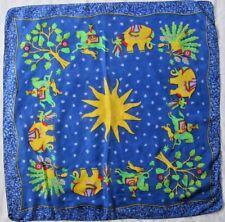 Carino sciarpa 100% seta vintage foulard - 80 cm x 97 cm