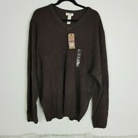 NWT Dockers Mens Size XXL Comfort Touch Brown Pullover Sweater