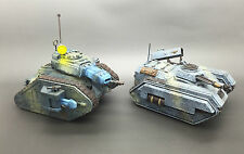 WARHAMMER 40,000 IMPERIAL GUARD CHIMERA & LEMAN RUSS EXECUTIONER PAINTED X 2